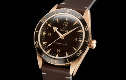 The Omega Seamaster 300 Gets a Bronze Gold Treatment
